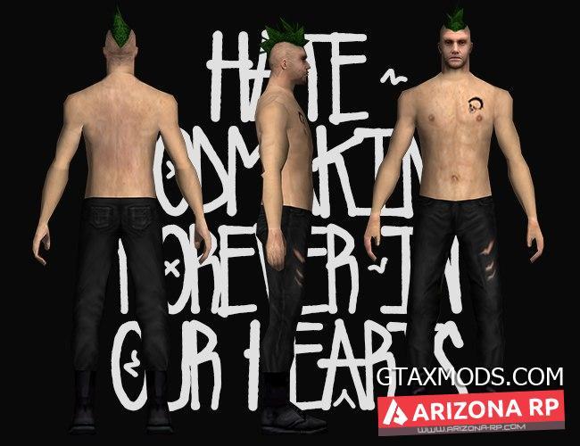 Новый панк с зелёными волосами