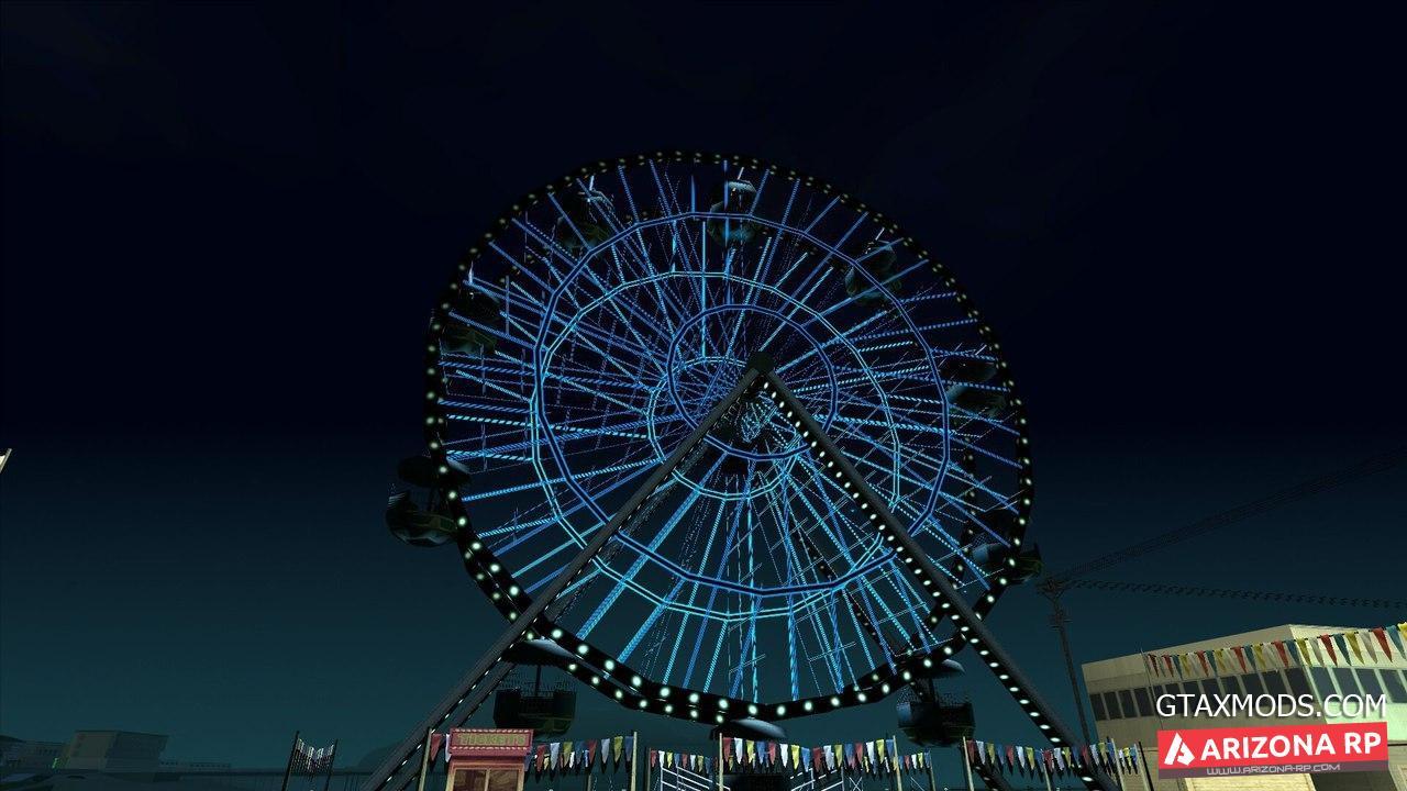 Неоновое колесо обозрения