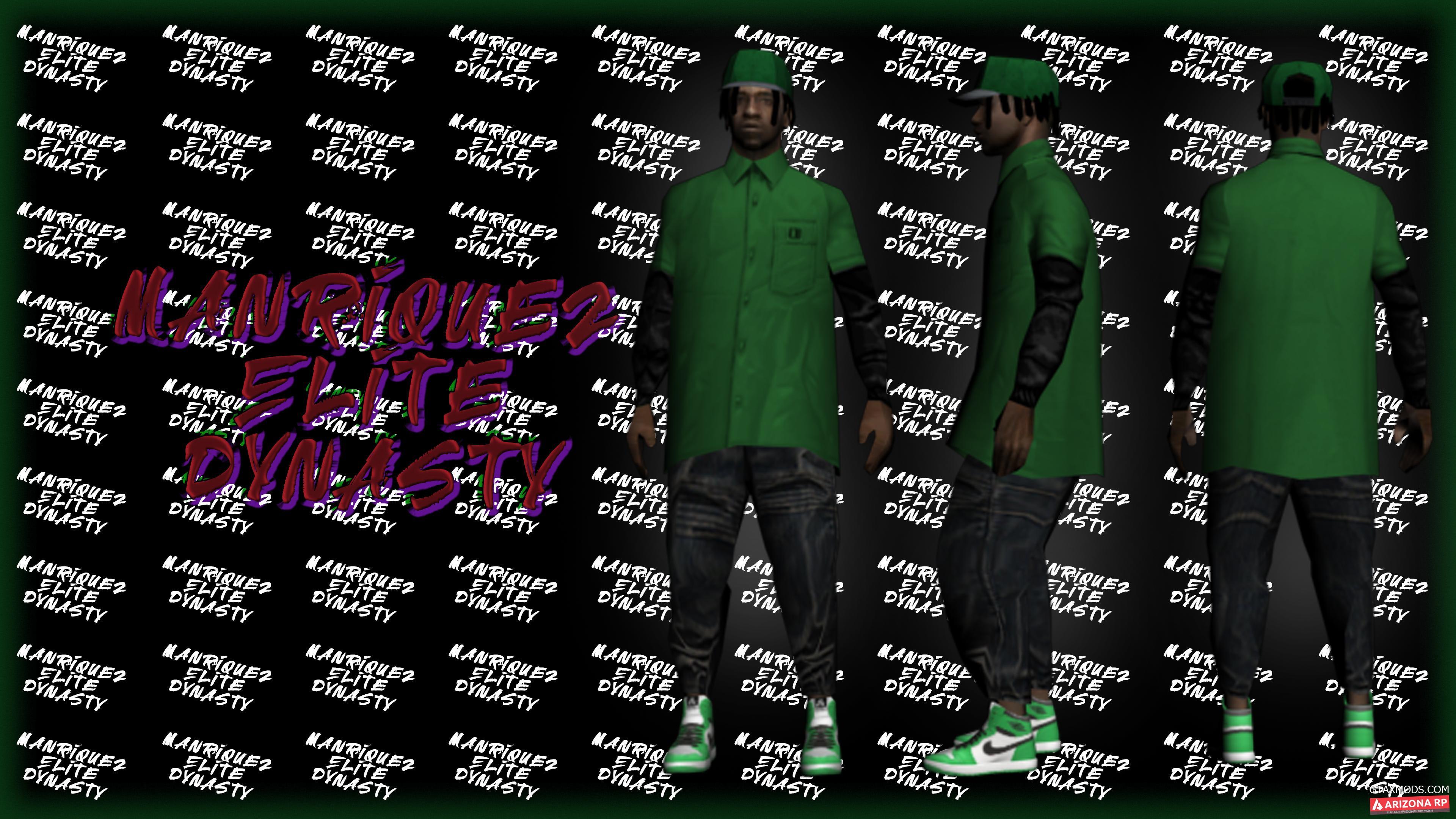 fam2. Green Nike, T-shirt and Cap.