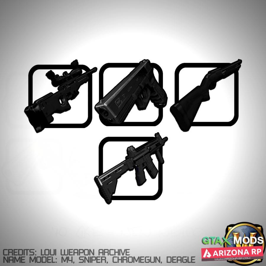 Ultra-Black Weapons Pack  | hillz hellfire