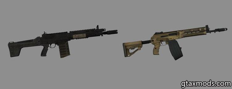 XMLAR Assault Rifle + PAYDAY 2 RPK-17 Drum + Sound