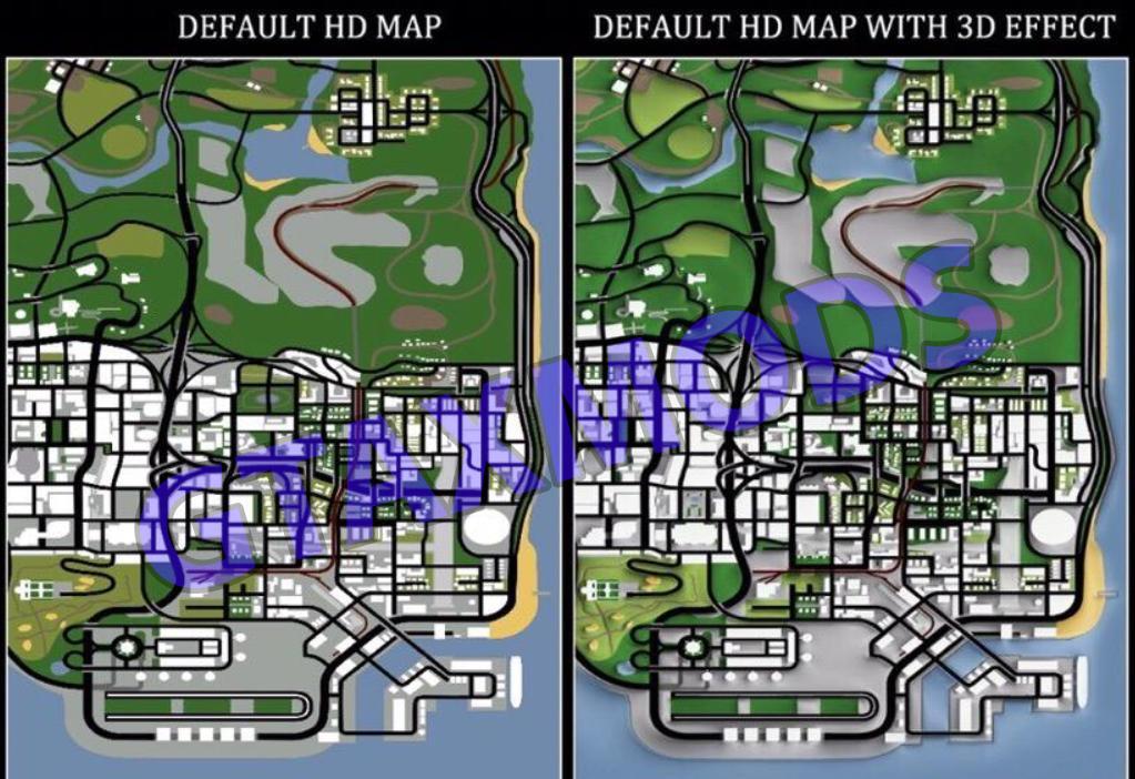 Карта с 3D эффектом