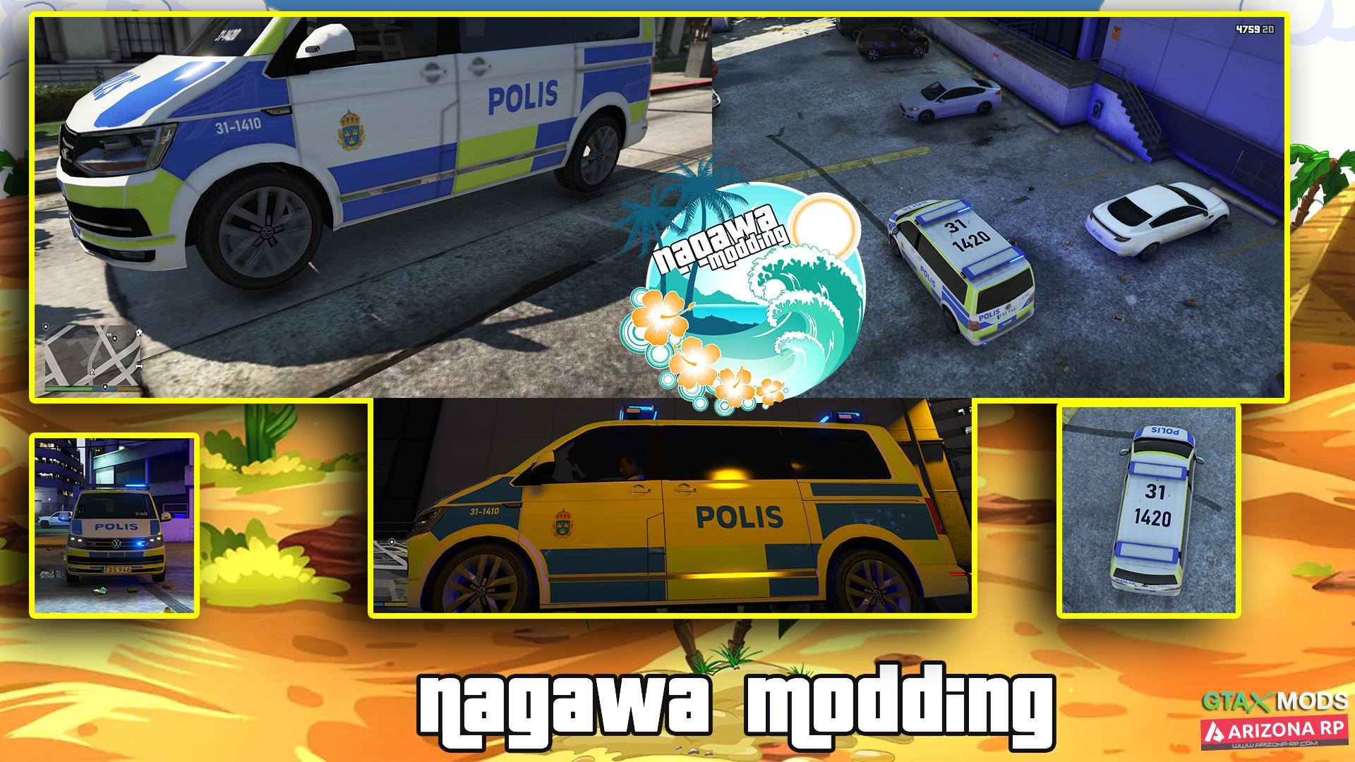 Swedish volkswagen T6 Police