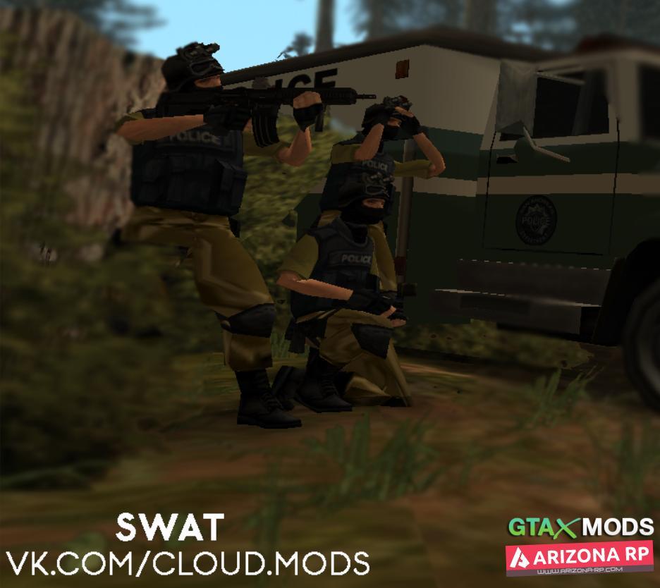 SWAT в камуфляже.
