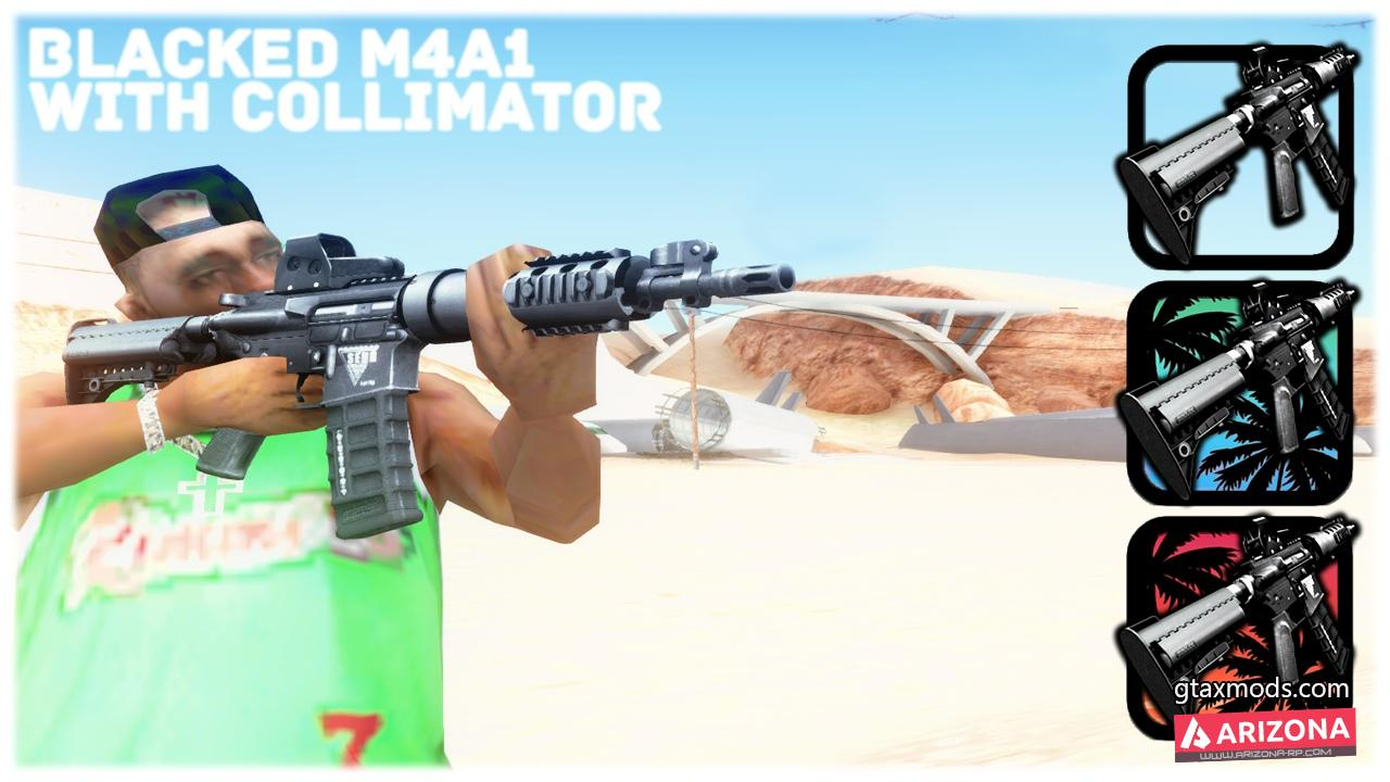 BLACKED M4 WITH COLLIMATOR