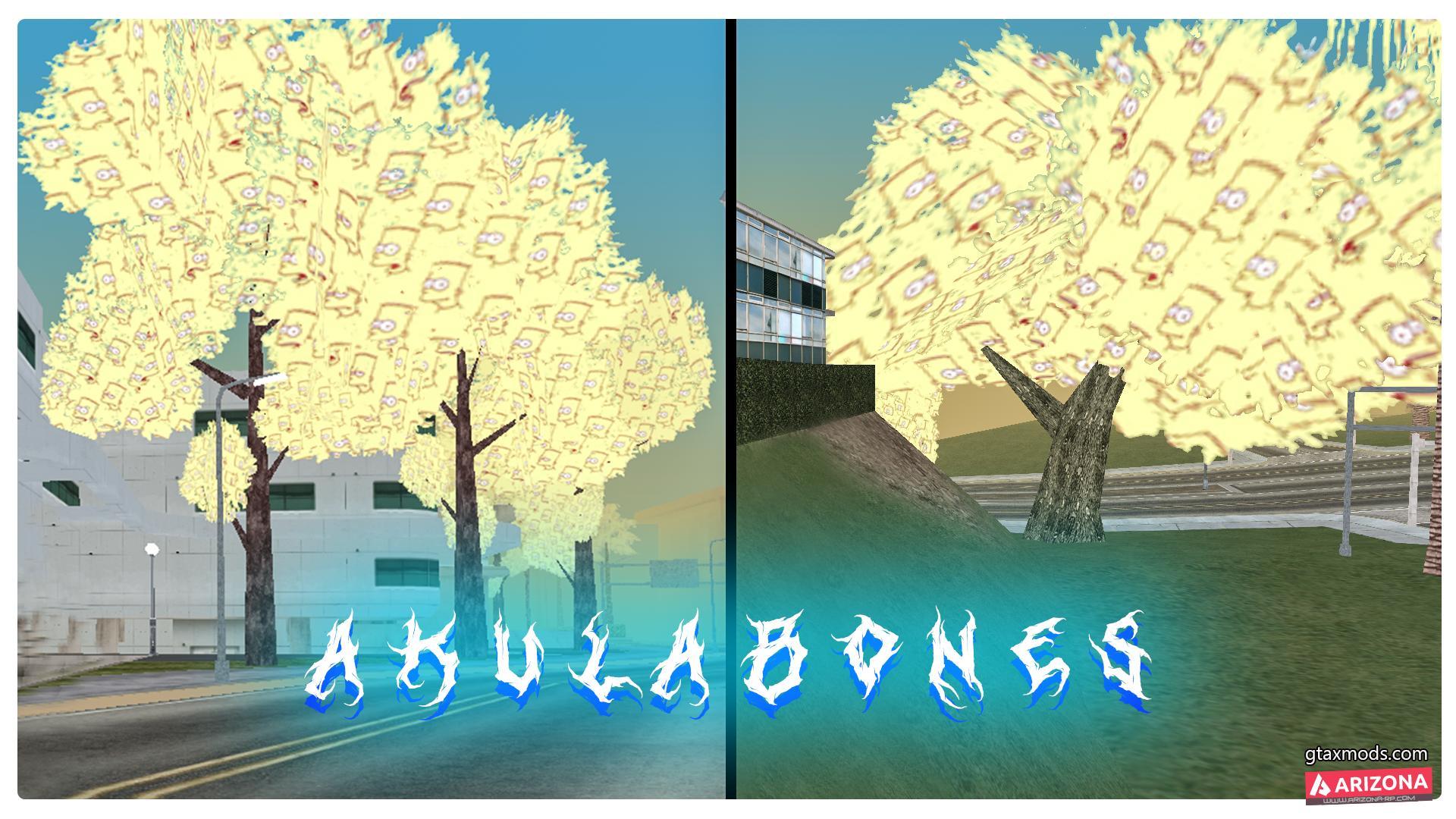 Листва деревьев с Бартом (Simpsons) by AkulaBOnes