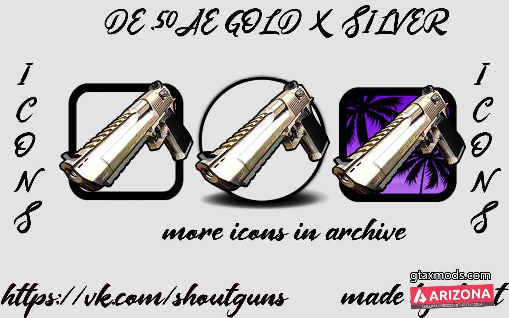 DE .50AE GOLD X SILVER