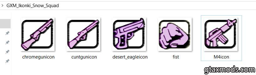 Фиолетовые иконки by Snow squad