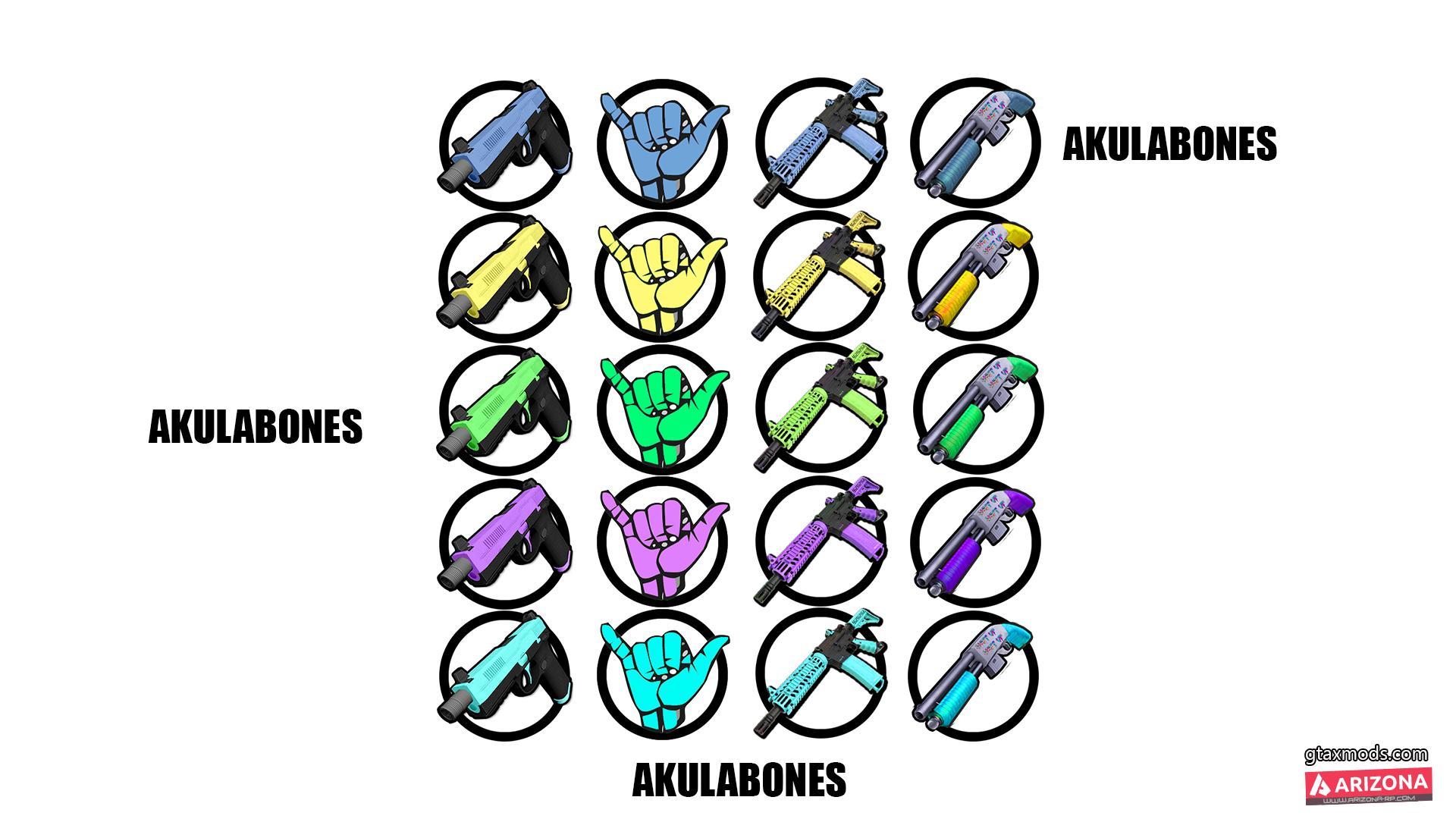 Icons for guns BY AKULABONES