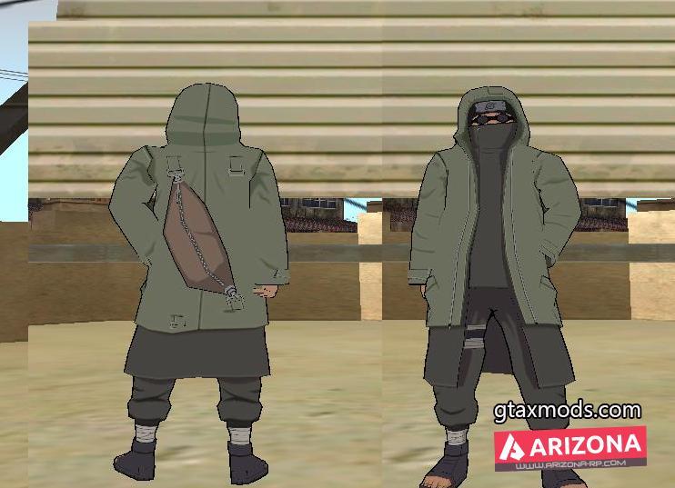 Шино Абурамэ из аниме-наруто для GTA SA