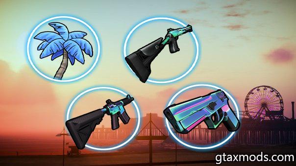 Blue Neon Circle Icons