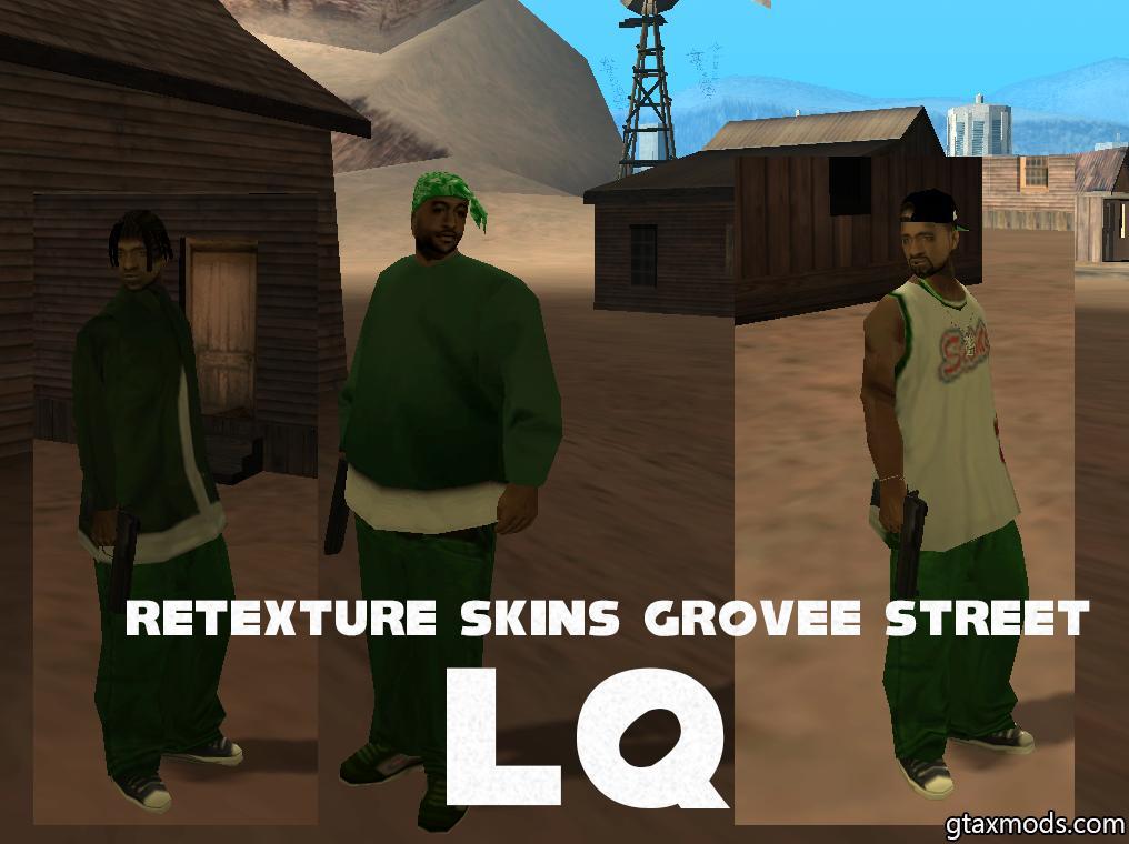 Retexture Skins Grovee Street LQ
