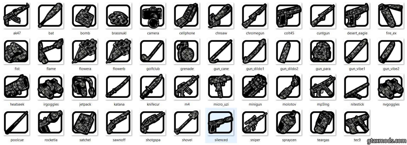 [FullPack] Black-White Icons