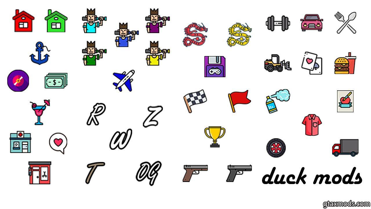 Иконки на карте | DUCK MODS