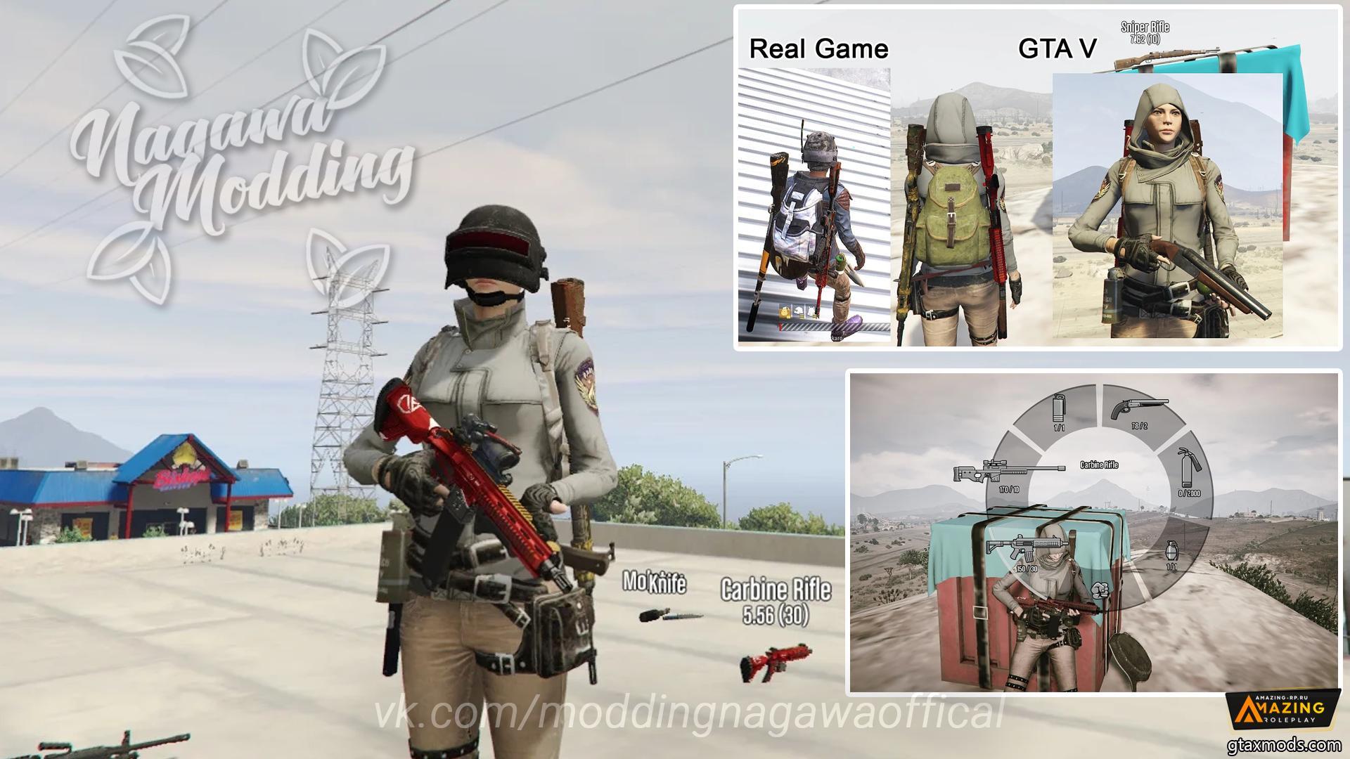 Setting weapon PUBG for GTA V/Online