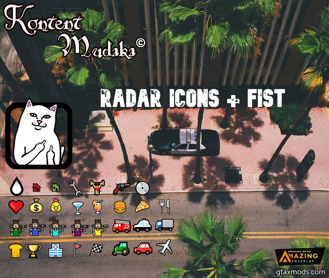 Radar Icons + Fist