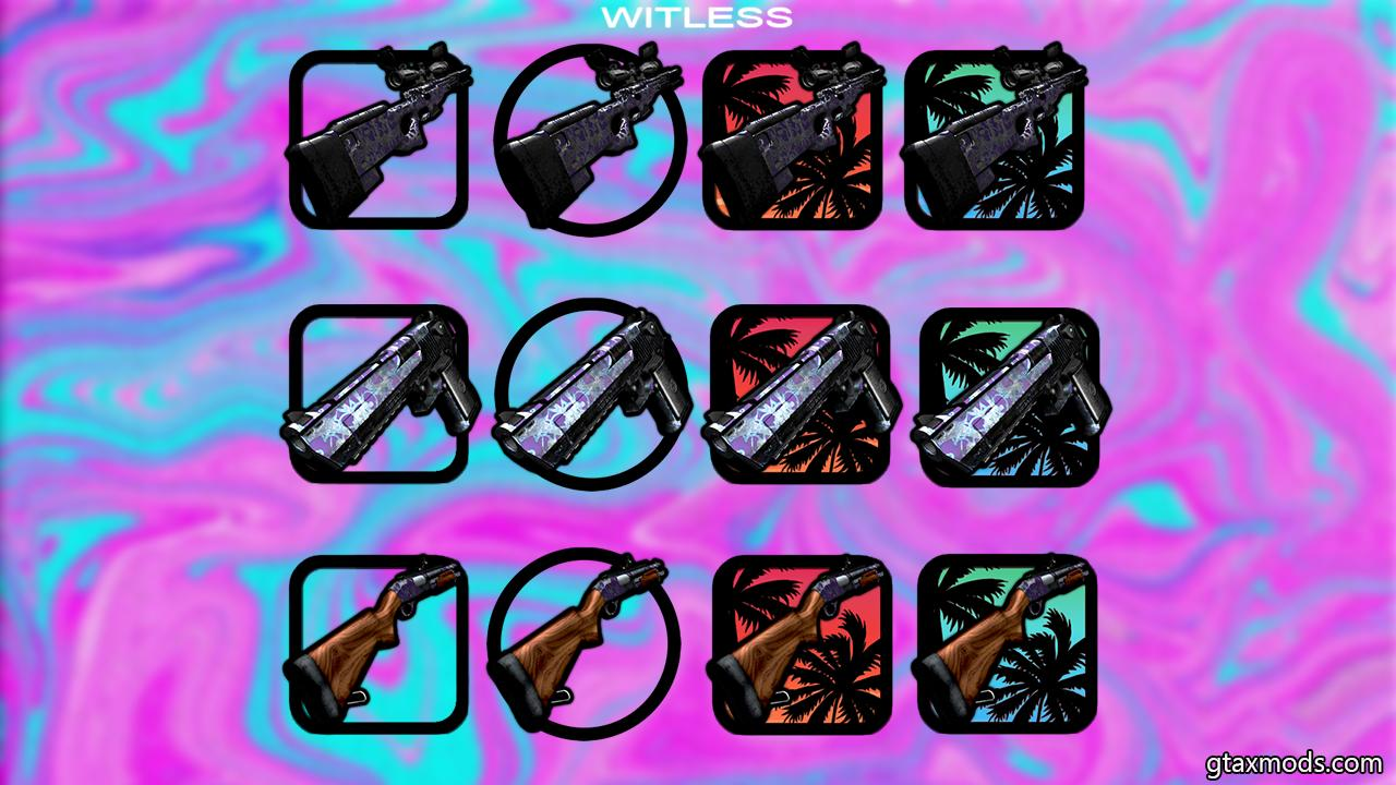 ragged flower-patterned weapon pack