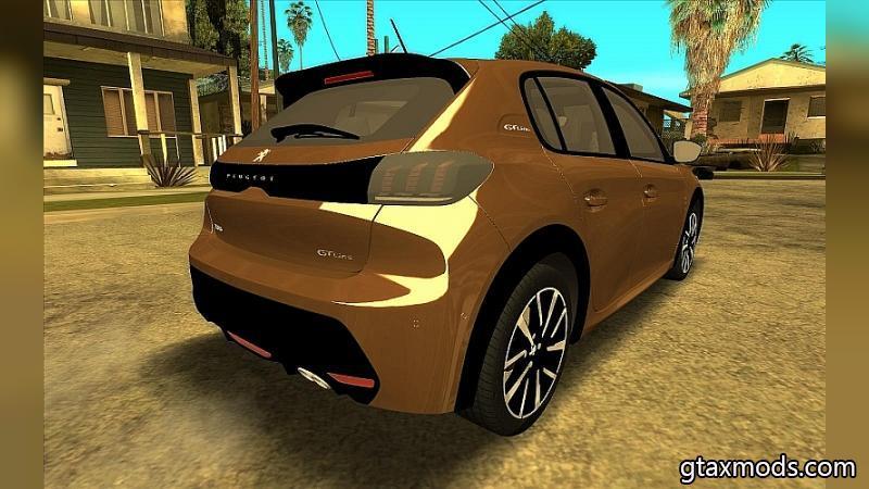 Золотистый Peugeot 208 2020