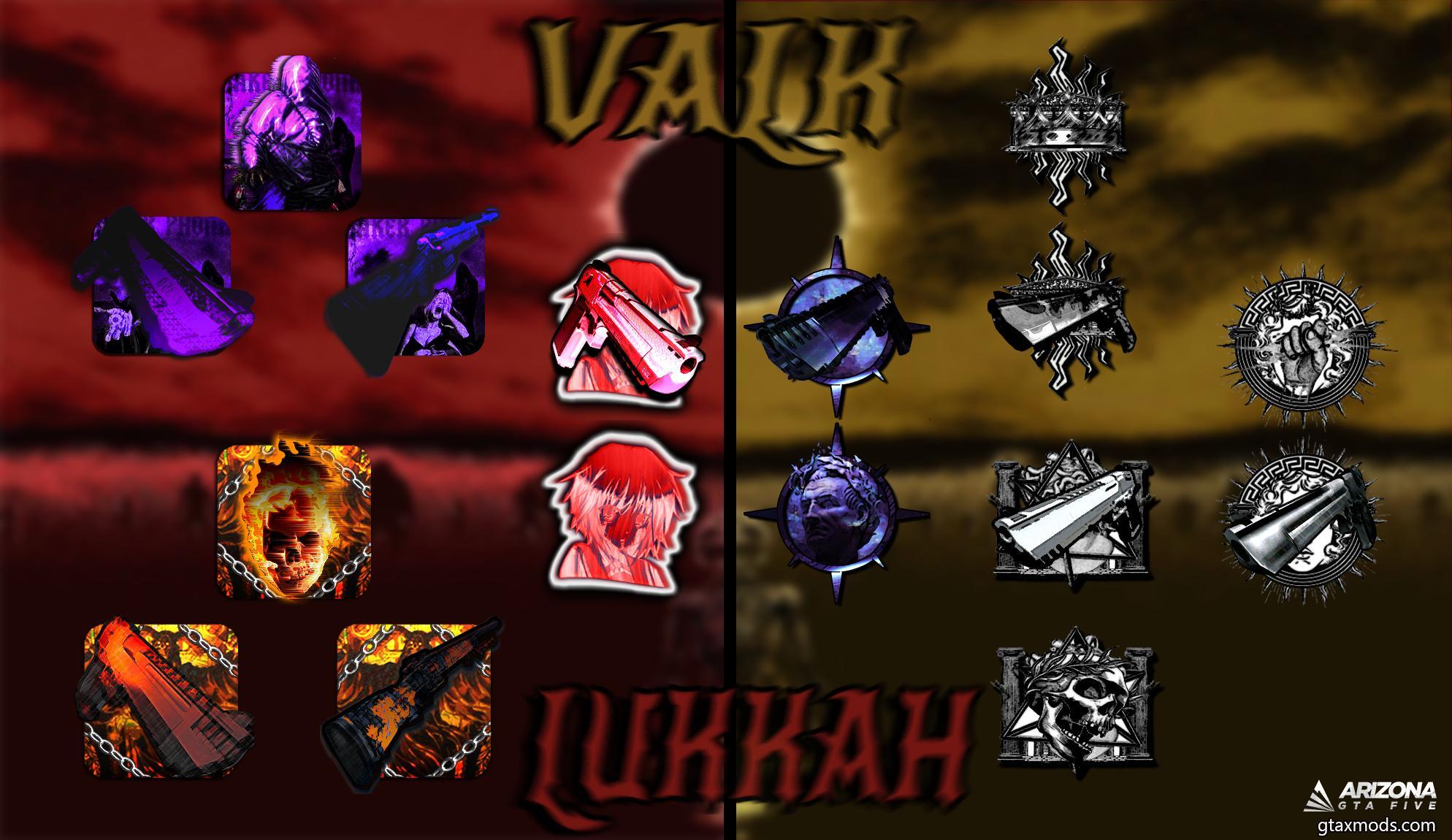 Dual icons Lukkah x Valk