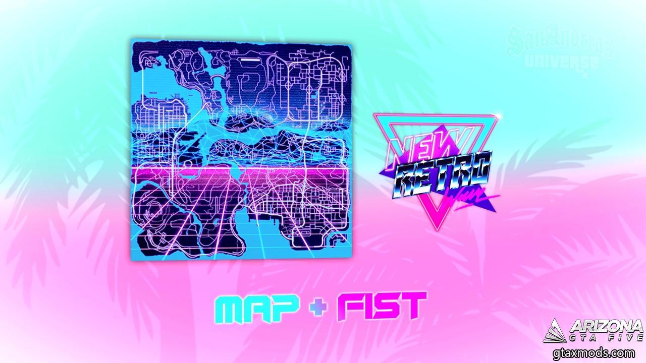 Карта в стиле Retrowave + FIST